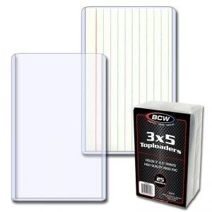 """BCW 3"""" x 5"""" Top Loader - Pack of 25"""