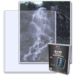 """BCW 8"""" x 10"""" Photo Top Loader - Pack of 25"""