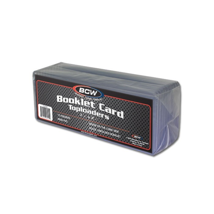BCW Booklet Card Top Load 5MM (Horizontal) - Pack of 10