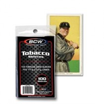 BCW Tobacco Card Soft Sleeves - Pack of 100