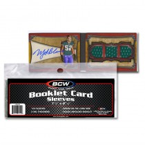 BCW Booklet Card Sleeve  (Horizontal)  - Pack of 50
