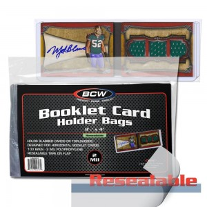 Resealable Bag for Booklet Card in Holder (Horizontal) - Pack of 100