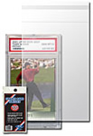 """Graded Card Sleeve, Large Magentic (150 & 180 Pt.), and 1/2"""" Thick One Screw Sleeve - 100 Pack"""